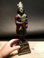 Antique Vintage Style Cast Iron Old Honesty Cigar Statue Coin Bank