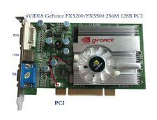 NEW nVIDIA GeForce FX5500 PCI 256MB 128bit DDR VGA/DVI PCI Video Card