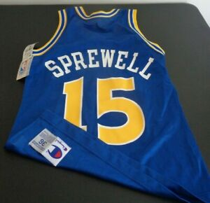 LATRELL SPREWELL Golden State WARRIORS Replica CHAMPION Small VINTAGE Jersey NEW
