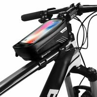 Waterproof MTB Road Bike Frame Front Bag Pannier Bicycle Mobile Phone Holder New