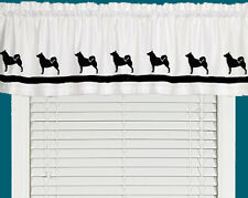 Norwegian Buhund Dog Window Valance Curtain in Your Choice of Colors