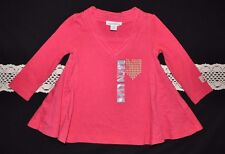 NWT Naartjie Kids Textured Military Stud Tunic (6-12 Months) Rapture