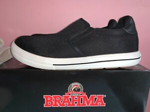 Brahma Working Slip On Sneakers Black White