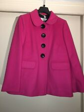 BODEN Mia Coat Women's Jacket Wool Cashmere Blend Pink WE407 US: 6 R NEW