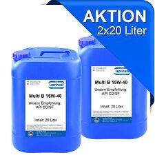 2x20l 15W40 für den rationellen Einsatz im gemischten Fuhrpark Motorenöl 40 L