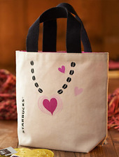 STARBUCKS Japan Exclusive Heart Siren Logo Coffee Mini Tote Bag Valentine's Day