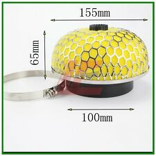 """4"""" High Flow Mushroom Air Intake Filter Turbo Round Washable 65mm height yellow"""
