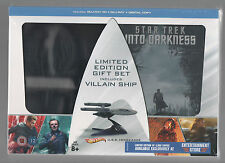 STAR TREK INTO DARKNESS SET WITH VILLAIN SHIP AND STEELBOOK / XMAS GIFT / SEALED