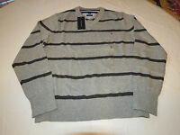 Mens Tommy Hilfiger long sleeve sweater shirt Pima L 7880581 Griffin 006 grey