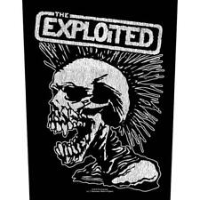 OFFICIAL LICENSED - EXPLOITED - VINTAGE SKULL SEW ON BACK PATCH PUNK
