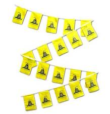 30ft String Flag Set of 20 Gadsden Tea Party 12x18 Bunting Flag Banner Flags