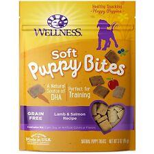WELLNESS JUST FOR PUPPIES SOFT BITES PUPPY TREATS 3 OZ GRAIN FREE. USA