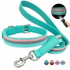 Reflective Dog Collar Leash Set Adjustable Leads Rope Small Medium Dogs Supplies