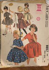 McCall's vtg 1962 pattern 6657 girl's dress with four-gore skirt sz 7 breast 25