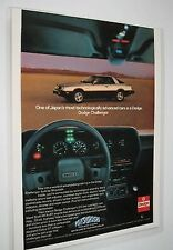 1980 Dodge Challenger Mitsubishi Ad Advertisement Laminated Sealed Full Color