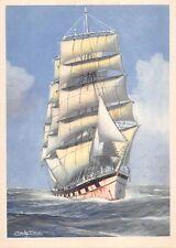 BR56807 Quatre mats barque navigant babord amure ship bateaux