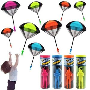 Kids Hand Throwing Mini Soldier Parachute Outdoor GamePlay Educational Funny Toy