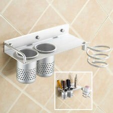 Hair Dryer Straightener Holder Spiral Wall Mounted Bathroom Use Comb Organizer