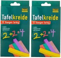 24 Stangen Tafelkreide Kreide Schulkreide Wandkreide Chalks bunt farbig