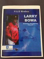 LARRY BOWA SIGNED 8X10 PHOTO AUTO AUTOGRAPH MANAGER, PHILADELPHIA PHILLIES