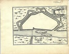 Antique map, St. Jean de Laune-Losne