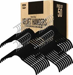 Pack of 50 Velvet Hangers Non Slip For Shirts 360° Rotatable Hook Utopia Home