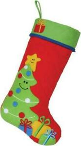 Stephen Joseph Quilted Christmas Stocking, Tree