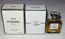 Vintage Perfume Bottle Chanel No 19 Bottle/Box 14 ML - 1/2 OZ, Sealed, 3/4+ Full