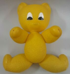Nostalgie Teddy DDR Spielzeug Teddybär gelb Plastik plaste Kinder Kunststoff(AB)
