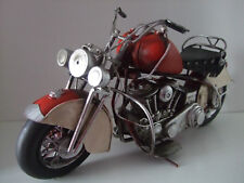 Tin Plate Model of a ClassicTransport American Style Red Motorbike /Ornament