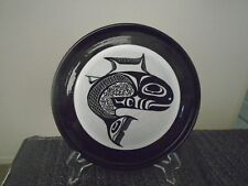 """Doe Stahr Nw American Indian Artist """"Spawning Salmon"""" Plate"""