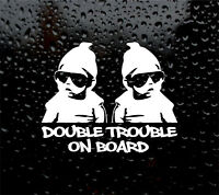 Car Window Sticker Twins on Board Sisters Girls Child Mickey Mouse Decal V02