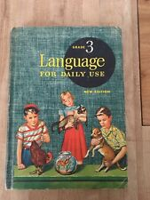 Language For Daily Use Grade 3 Vintage World Book Textbook 1955