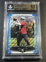 DEREK CARR 2014 TOPPS CHROME BLUE WAVE REFRACTOR ROOKIE RC ALL BGS 9.5 10 SUBS
