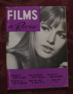 RARE FILMS in REVIEW Magazine March 1964 Catherine Spook Vincente Minnelli
