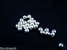 5g of 3mm Sterling Silver Round Beads  - Approximately 75 beads