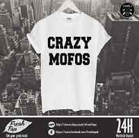 Crazy Mofos T Shirt 1D One Direction Hipsta Please 94 Styles Tumbrl Dope Harry