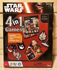 Star Wars The Force Awakens 4-In-1 Dominoes Battle Matching Bingo Starship Race
