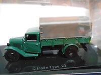 CITROEN Type 23 Pritsche / Plane grün grau 1946 Truck Camion LKW Norev 1:43
