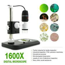 1600X USB 8 LED Licht Digital Mikroskop Kamera Endoskop Vergrößerung mit Ständer