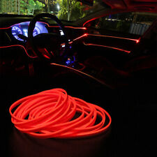 Red 5M LED Car Interior Decor Atmosphere Wire Strip Light Lamp Car Accessories