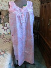 WOMENS PINK K PINK WHITE FLORAL DUSTER SHIFT HOUSE DAY DRESS NIGHTGOWN NWT M