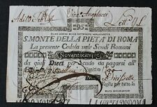 Italie - Italia - Italy - Billet de 95 Scudi du 1/8/1797 Roma