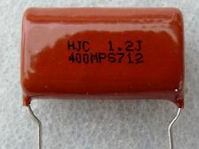 2 condensateurs polypropylene 1,2uF 400V 5% HJC MPS