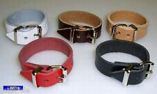 20 Lederriemen schwarz 18,0 x 1,4 cm Lederbänder mit Schnalle Fixierungsriemen