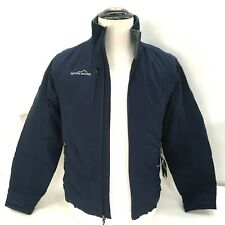 Eddie Bauer Mens XS Jacket Columbus Zoo Patch on Back Surfing Blue New