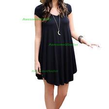 Women Tunic Top Shirt Blouse Dress Lose Long Casual Fashion Sleeve Party Evening