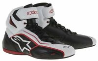 Alpinestars FASTER 2 Black White Commuter Motorcycle Riding Shoe Boots US Sizes