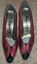 Vintage Margaret J Pumps. Red & Black. Sz 8M