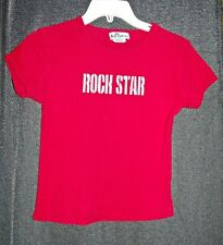Vtg 90s red rock star tee shirt Sz S